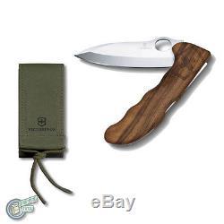 0.9410.63 35243 VICTORINOX Swiss Army Knife Hunter Pro Wood Nylon Pouch Walnut