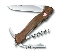 0.9701.63 Victorinox Wine Master 130mm 6 Tools Pocket Knife Walnut Wood