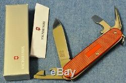 1/100 Very Rare Victorinox Farmer Bicolor Orange Purple Nib New Swiss Army Knife