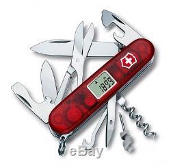 1.3705. AVT Victorinox Swiss Army Knife TRAVELLER 25 Tools Translucent Red 53858
