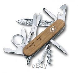 1.6701. J13 Victorinox Swiss Army Pocket Knife Exlorer Damast Le 2013 Damascus