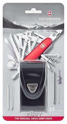 1.6795 Victorinox Swiss Army Pocket Knife Swiss Champ Swisschamp With Pouch