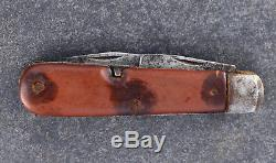1910 Coutellie Suisse Wenger Delemont Swiss Army Knife Rare Soldier Knife Fibre