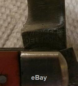 1941 WENGER DELEMONT Swiss Army Knife WWII Soldier's Knife COLLECTOR GRADE A