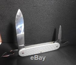 4 Victorinox / Wenger Soldier Alox Silver Swiss Army Knife 1993-1996-2001-2007