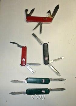 9 Wenger Swiss Army Knives Director (ret), Shredder (2), Biker 37, LOOK LOOK
