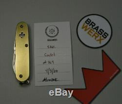 BRASSWERX CADET BRASS SAK Victorinox Swiss Army Knife Custom 84mm BW BWSAK