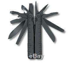 Black Victorinox SwissTool X Multi-Tool SwissTool Swiss Army Pocket Knife Spirit