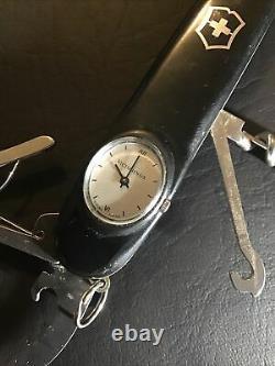 Black Victorinox Time Keeper Swiss Army Knife