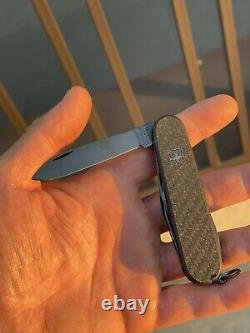 Black Victorinox swiss army Knife Carbon limited edition Spartan PS