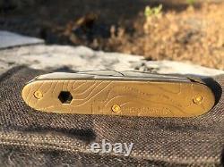Brasswerx Custom Brass Topo eVoyager Swiss Army knife Victorinox