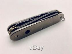 Brasswerx Pioneer X Custom Swiss Army Knife (SAK), Titanium Scales, NIB
