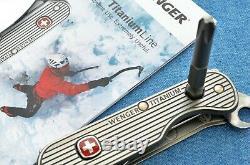 C. 2011 RARE UELI STECK Wenger Titanium 3 Series Swiss Army Knife New in Box NOS