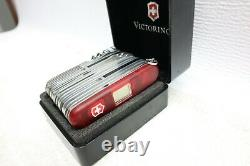 Clean Used Victorinox Swiss Army Knife Swisschamp XAVT Ruby Red Mod. 1.6795. XAVT