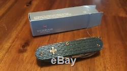 Custom Alox Blue Textured Titanium Super Tinker Swiss Army Knife Mod Pocket Clip