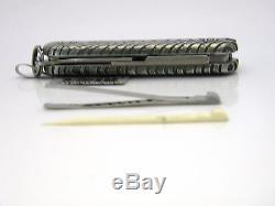 David Yurman Victorinox Sterling Silver Iron Wood Swiss Army Knife NWT