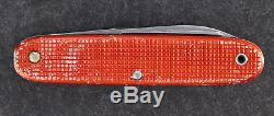 Elsener Schwyz Victoria Victorinox Swiss Army Rare Soldier Knife Alox Red 1966