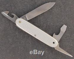 Elsener Schwyz Victoria Victorinox Swiss Army Rare Soldier Knife Alox Silve 1966