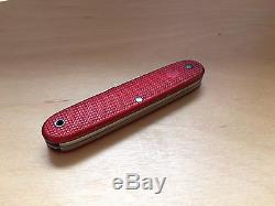 Elsener/Victorinox red Alox Soldier 1964, vintage discontinued swiss army knife
