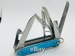 HOLY GRAIL Victorinox Master Craftsman Blue Smooth Alox Swiss Army Knife KLU KM