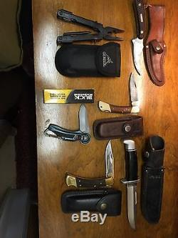 Knife Collection 50 Knifes Case & sons, Buck, Swiss Army, Boker, and More