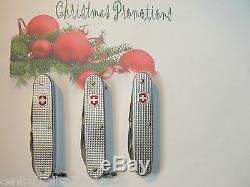 LOT OF 3 New Victorinox Swiss Army ALOX Knives FARMER, PIONEER & ELECTRICIAN