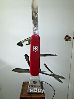 Lg Victorinox'The Original Swiss Army Knife' moving store display