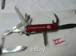 Lot Of 22 Vitorinox Wenger Swiss Army Knives 58mm 74mm 84mm 85mm 91mm