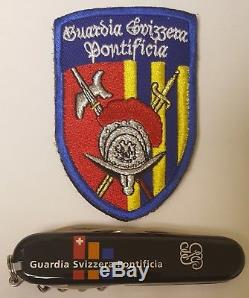 Lot of 2 Pontifical Swiss Guard of the Vatican Swiss Army Knife and Patch Rome