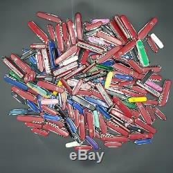 Lot of 200 TSA Confiscated Victorinox Wegner Swiss Army Style Knives FREE SHIPPN