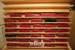 Lot of 50 Large and Medium Swiss Army knives all Victorinox and Wenger