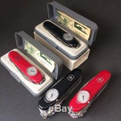 Lot of Victorinox 2 Supertimer and 2 Timekeeper NEW Swiss Army Knife Red / Black