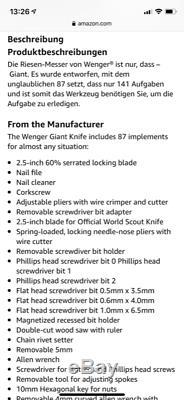 MEGA WENGER 16999 The Genunine Swiss Army Knife in orig. Box Rarität wie Neu