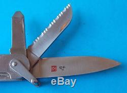 Metal Swiss Army Style Knife Al Mar On Main Blade With Screwdriver! Stidham