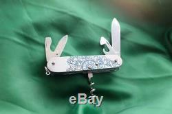 Mammoth Swiss Army Custom Titanium Pocket Knife Victorinox Steampunk