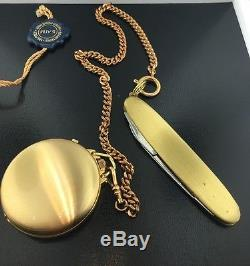 Men's yellow Belair pocketwatch with date with detachable Swiss army knife