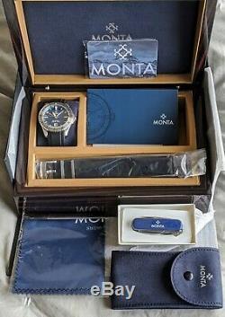 Monta Skyquest Blue Dial Steel Bezel + Monta Victorinox Swiss Army Knife