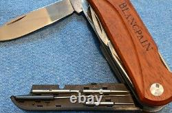 NEW IN BOX WENGER EKA WOOD MINATHOR BERGEON BLANCPAIN With LOUPE SWISS ARMY KNIFE