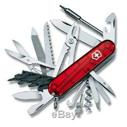NEW Victorinox Cyber Tool 41 Swiss Army Knife Transparent Red