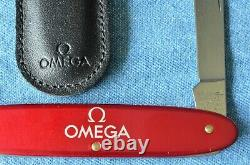 NOS NEW METALLIC RED Wenger OMEGA Case Back Knife / Watch Case Swiss Army Knife