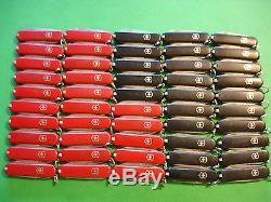 NTSA LOT of 50 SWISS ARMY VICTORINOX POCKET KNIVES 25 RED 25 BLACK CLASSICS