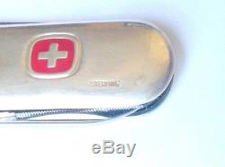 New! Swiss Army Knife Sterling Silver, Wenger Pocket Tool Chest, Free Shipping