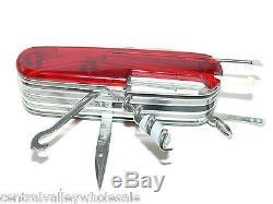 New Victorinox Swiss Army 91mm Knife CYBERTOOL LITE & Nylon Sheath 53969 N