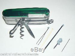 New Victorinox Swiss Army 91mm Knife GREEN CYBERTOOL LITE & CLASSIC 53969 EC