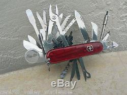 New Victorinox Swiss Army 91mm Knife SWISSCHAMP XLT & Sheath 53504 P