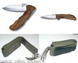 New Victorinox Swiss Army Knife HUNTER PRO WOOD & OD Nylon Pouch 0.9410.63US2