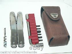 New Victorinox Swiss Army Knife SWISSTOOL SPIRIT Wrench Bits & Pouch 3.0238. L