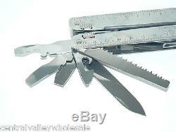 New Victorinox Swiss Army Knife SWISSTOOL X Ratchet Kit + Leather 3.0339L
