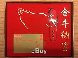 New Victorinox Swiss Army Limited Edition Year of The Ox (2009) Knife VERY RARE
