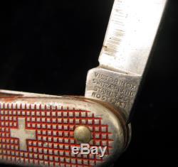 Pioneer Victorinox Sturdyboy Rostfrei Swiss Army Knife Red Alox Weathered Scales